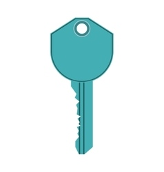 Blue key icon vector