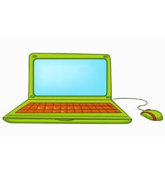 cartoon appliences laptop vector image vector image