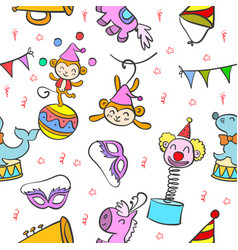 Circus element colorful doodle style vector