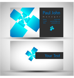 Colorful and elegant business card design with vector