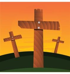 crosses vector image vector image