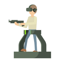 Game gun icon cartoon style vector