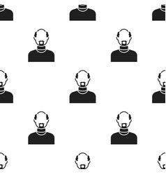 Gray beard icon black single avatarpeaople icon vector