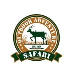 Hunting safari outdoor adventure club sign vector image vector image