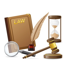Law icons 02 vector