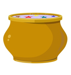 Magic pot EPS10 vector image vector image