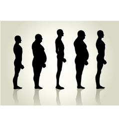 Male Body Type vector image vector image