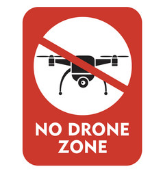 No drone zone vector