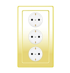Plug in gold color vector