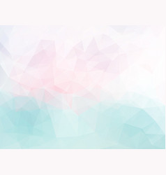 Polygonal pink blue pattern vector