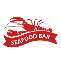 Red lobster vector
