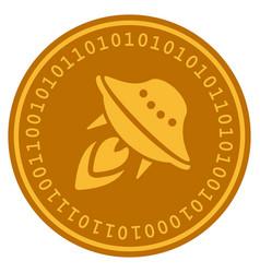 ufo start digital coin vector image vector image
