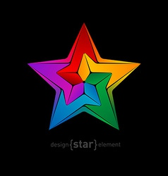 unimaginable colorful star vector image