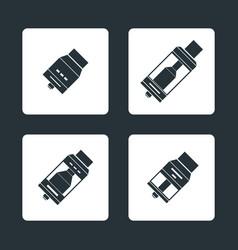 Vaporizer atomizers types icons vector