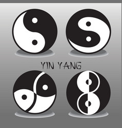 Yin Yang collection vector image