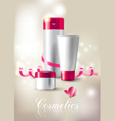 Cosmetics background vector