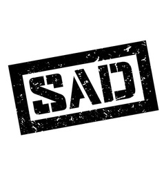 Sad rubber stamp vector