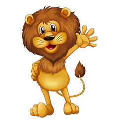 A lion waving vector