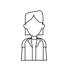 Woman doctor occupational medical work outline vector