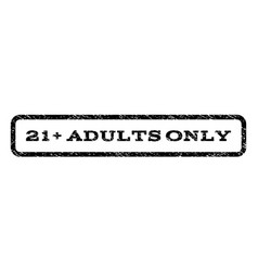 21 plus adults only watermark stamp vector