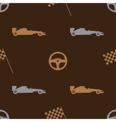 Brown automotive icon pattern eps10 vector