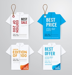 Sale banners price tag paper card template vector