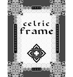 Frame in celtic style vector