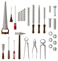 Hand work tools set vector