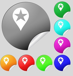 Map pointer award gps location icon sign set of vector
