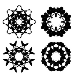Abstract black ornaments vector