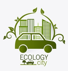 Ecology digital design vector
