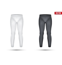 Under layer compression pants of thermo fabric vector