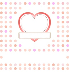 Romantic gift card vector