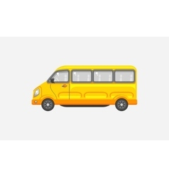 Minibus side view vector