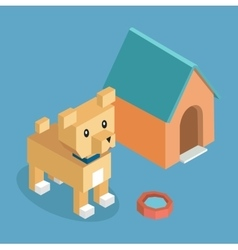Pets Dog Icon Isometric 3d Design vector image
