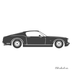Old vintage classic car icon vector