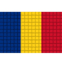 The mosaic flag of Romania vector image