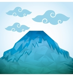 Abstract mountain icon vector