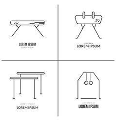 Artistic gymnastics logo set vector