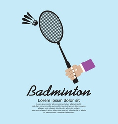 Badminton Racket vector image