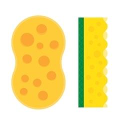 Bath sponge kitchen sponges flat icon vector