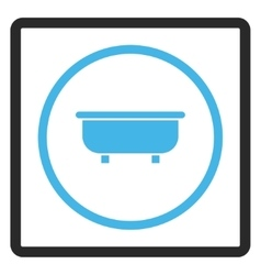 Bathtub framed icon vector
