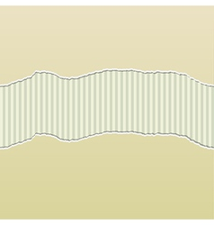 Beige torn paper reveal stripes panel vector