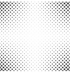 Black and white star pattern - background vector