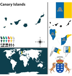 Canary Islands map vector image vector image
