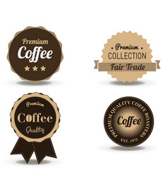 coffee beverage badge and label flat logo vintage vector image vector image