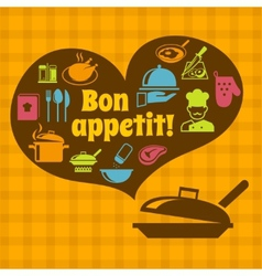 Cooking bon appetit poster vector image