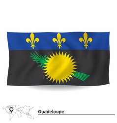 Flag of Guadeloupe vector image