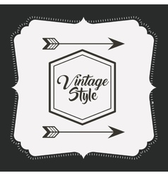 frame retro style icon isolated icon design vector image