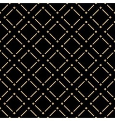 Golden line pattern on dark background vector
